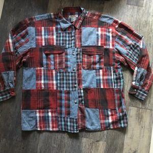 Eddie Bauer   Vintage Plaid Patchwork Flannel
